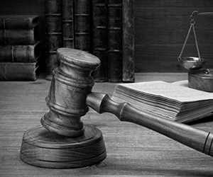 Magistrate Judge Desk and Gavel